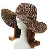 Chic Ladies Straw Sun Visor Wide Large Brim Floppy Fold Swimming Beach Straw Hat