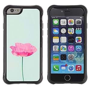 Suave TPU GEL Carcasa Funda Silicona Blando Estuche Caso de protección (para) Apple Iphone 6 PLUS 5.5 / CECELL Phone case / / Flower Pink Blue Spring Nature /
