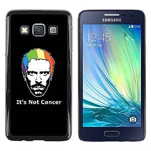Caucho caso de Shell duro de la cubierta de accesorios de protección BY RAYDREAMMM - Samsung Galaxy A3 SM-A300 - Its Not Cancer House