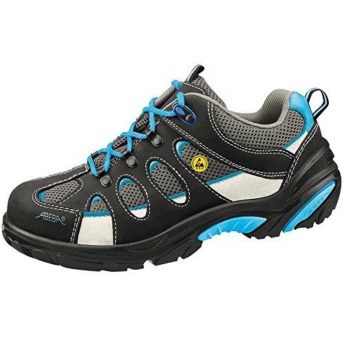 Abeba ESD-S-Schuh Crawler ALU Halbschuh weiss, Glattleder m. Textil, CE, EN ISO 20345:2011, S1, Gr. 36 schwarz / blau