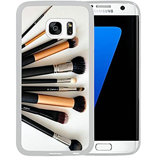 Case for Samsung Galaxy S7 Edge,Makeup Brushes Samsung Galaxy S7 Edge Case [TPU White] Sales