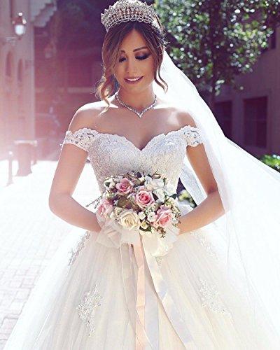 Weiß Shoulder Prinzessin 2018 Brautkleider A Hochzeitskleider Off Hochzeitskleider Changjie Damen linie Lang P0pRXWU