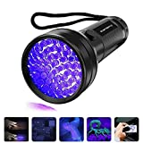 Black Light UV Flashlight, Vansky 2019 Upgraded UV lights 51 LED Ultraviolet Blacklight Pet Urine Detector For Dog/Cat Urine,Dry Stains,Bed Bug, Matching with Pet Odor Eliminator