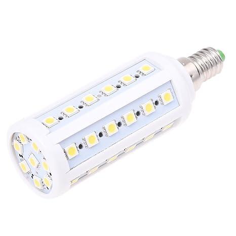 SODIAL(R) E14 9W 44 LED 5050 SMD Lampara Bombilla 6500K Luz Blanco
