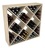 Creekside 120 Bottle Ultimate Wine Cube Rack, 12″ Deep, Pine Review