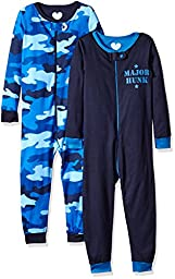 The Children\'s Place Boys\' Stretchie (Pack of 2), Camo/Trade Wind, 6-9 Months