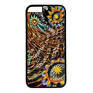 iPhone 6 Plus Case, iCustomonline Abstract Flower Case for iPhone 6 Plus 5.5 inch PC Material Black