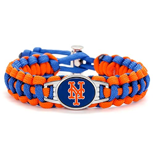 Swamp Fox Premium Style New York Mets Baseball Team Adjustable Paracord Survival Bracelet