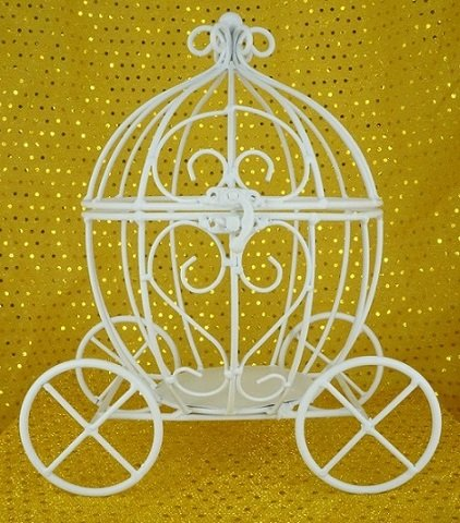 Carriage Large (Large Open Top Pumpkin Carriage (White))