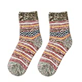 Pausseo Women Embroidered Casual Thicker Warm Soft Cotton Sport Sock Mid Tube Solid Color Fashion Students Comfortable Casual Anti-Slip Blends Knitted Sports Tube Elastic Compression Sock
