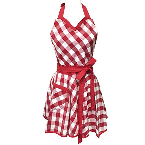 Wrapables Adjustable Flirty Hostess Gingham