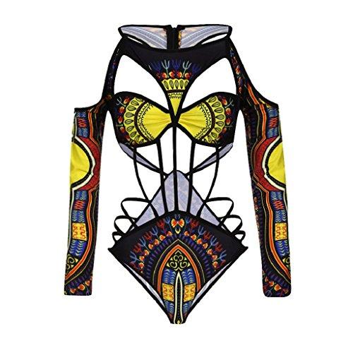 Vested Wool Suit (NEWONESUN Women African Print Bikini Set Swimwear Push-Up Padded Bra Swimsuit (Large))