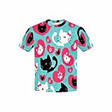 InterestPrint T-Shirt in Youth Cute Couple of Cats XL