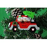 Personalized Christmas Tree Decoration Ornaments Tree Car Family - For the family of 2 members- Get your desired names on the items- A perfect Christmas gift by Frame Company