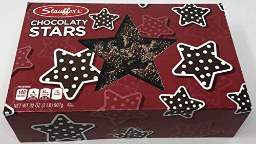 Christmas Chocolate Graham Stars Cookies, 2 Lb. Holiday Gift Box
