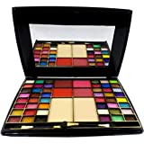 7 Heaven's Makeup Kit 48 Color Makhmali Eyeshadow with 4 BLU sher+2 Compact Powder, 65g