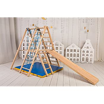 Amazon.com: Panda Indoor Playground by EZPlay – Natural Wood Color ...