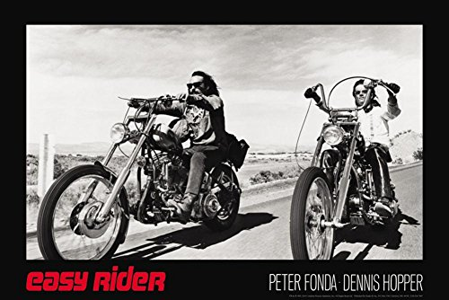 Easy Rider - Classic Poster 36 x 24in with Poster Hanger