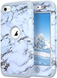 ipod 5 case light blue - iPod Touch 5 Case,iPod Touch 6 Case,KZONO Heavy Duty High Impact Armor Case Cover Protective Pattern Case for Apple iPod touch 5 6th Generation -Marble/Grey