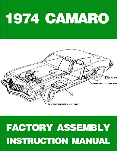 1974  74   CAMARO  ASSEMBLY MANUAL