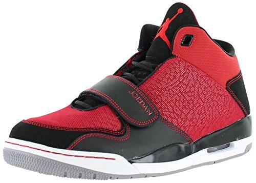 Nike Jordan Mens Flight Club 90s Basketball Shoes-Gym Red/Black/Cmnt Gray-8.5 (Nike Jordan Shoes Men Flight Club)