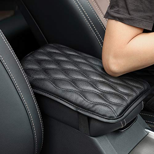 Seven Sparta Universal Center Console Cover for Most Vehicle, SUV, Truck, Car, Waterproof Armrest Cover Center Console Pad, Car Armrest Seat Box Cover Protector(Black) ()