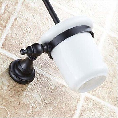XY&XH Toilet Brush Holder , Antique Oil Rubbed Bronze Wall Mounted Toilet Brush Holder