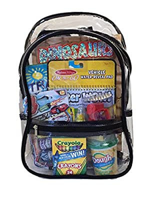 BusyBags - Activity Travel Bags for Kids - Hours of Quiet Activities - Durable See Through Backpack - Keep your kids busy on airplanes, roadtrips, waiting at restuarants, etc.