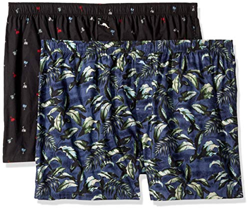 - Tommy Bahama Men's 2 Pack Printed Leaves Woven Boxer Short Set, Tiny Trees/Big, L