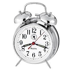 Bulova B8127 Bellman II Clock, Chrome Finish