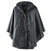 Unisex Outdoor Rain Poncho Hooded Jacket Coat for Men Women with Pockets