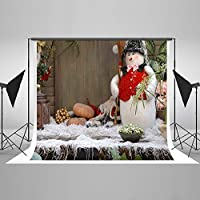 Kate 7 x 5ft Christmas Photography Backdrop Outdoor Snowman Children Backdrops for Studio Props
