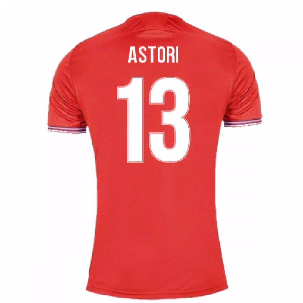 2017-18 Fiorentina Third Shirt (Astori 13) B07BMR9JPMRed Medium Adults