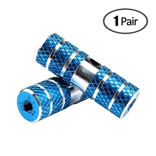 Amotor 2Pcs Aluminum Alloy Lead Foot BMX Pegs (Blue)