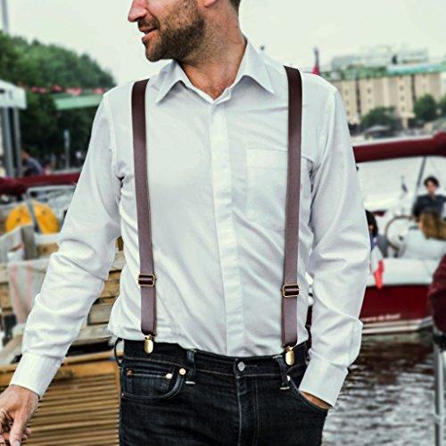 A De Pour Clair Jarretelles M Larges Y Hommes Donovan Clip Marron En Cuir p Suspenders Forme Bretelles r4vXwrq