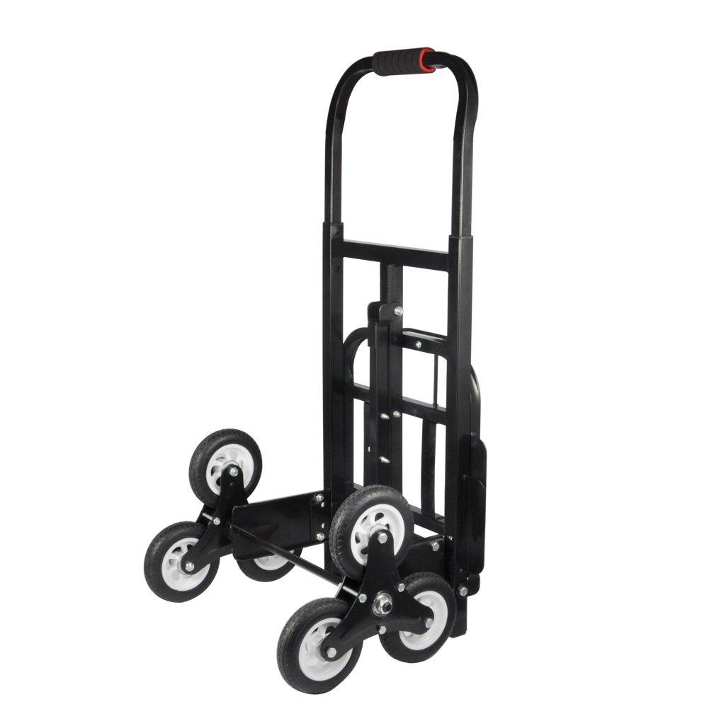 Stair Climber Hand Truck,Solid Rubber Tires-440LBS Barrow Hand Truck Bracket Roll Cart Trolley