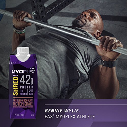 EAS Myoplex Shred Protein Shake, 42 Grams of Protein, Cinnamon Swole, 16 ounces, 12 count