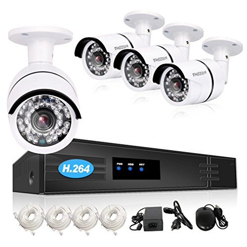 TMEZON IP 8 Channel NVR POE 1080P Security System with 4x...