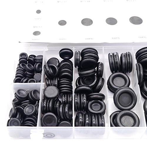 Diking 170Pcs Rubber Grommet Kits Firewall Hole Plug Set Electrical Wire Gasket Set For Wire Plug and -