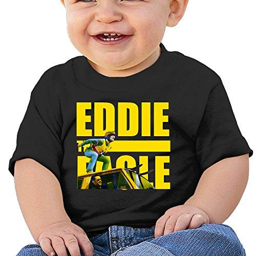 Logon 8 Eddie The Eagle ToddlerInfant Kids T-Shirt Black