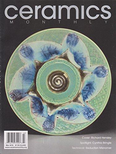 Ceramics Monthly Magazine March 2016