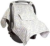 Summer Infant Muslin Little Looks Car Seat Cover, Arrow Stripe
