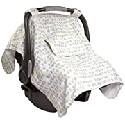Summer Infant Muslin Little Looks Car Seat Cover, Arrow Stripe