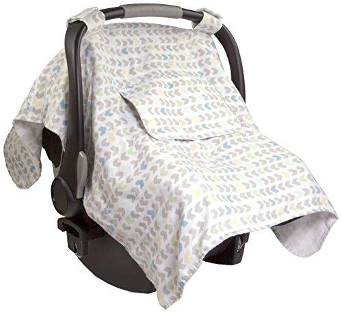 Summer Infant Muslin Little Looks Car Seat Cover, Arrow Stripe (Stripes Cover Seat Car Infant)