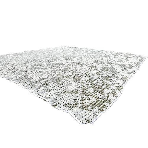 文サロン適応的カモフラージュネット、白い屋外隠しカモネットキャンプカバー、複数のサイズ