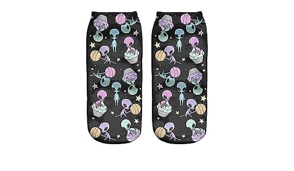 Kinlene 1 par 3D impresión digital pareja unisex transpirable calcetines elásticos: Amazon.es: Ropa y accesorios
