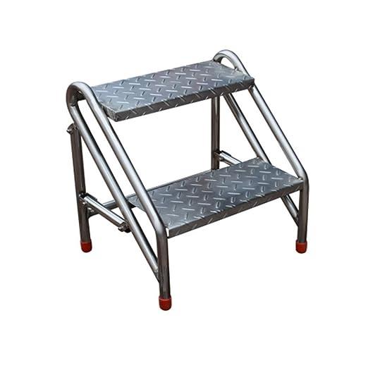 WOAINI Escalera plegable Taburete de acero inoxidable ...