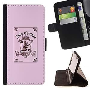 - pink funny joker card poker puppy pink - - Prima caja de la PU billetera de cuero con ranuras para tarjetas, efectivo desmontable correa para l Funny HouseFOR HTC Desire 820