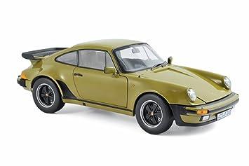 1977 Porsche 911 Turbo 3.3, Olive Green - Norev 187575 - 1/18 Scale