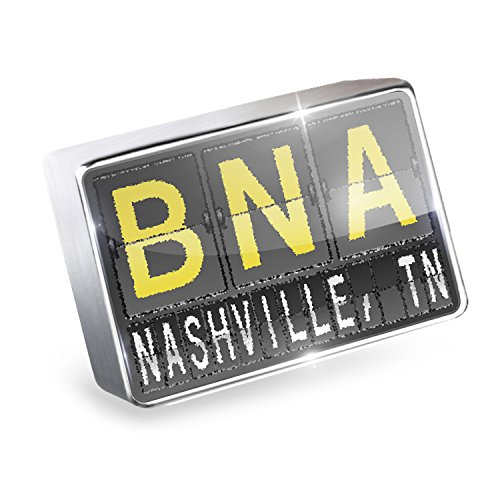 Floating Charm BNA Airport Code for Nashville, TN Fits Glass Lockets, - Tn Nashville Airport